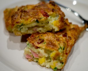 Zucchini Slice with bacon